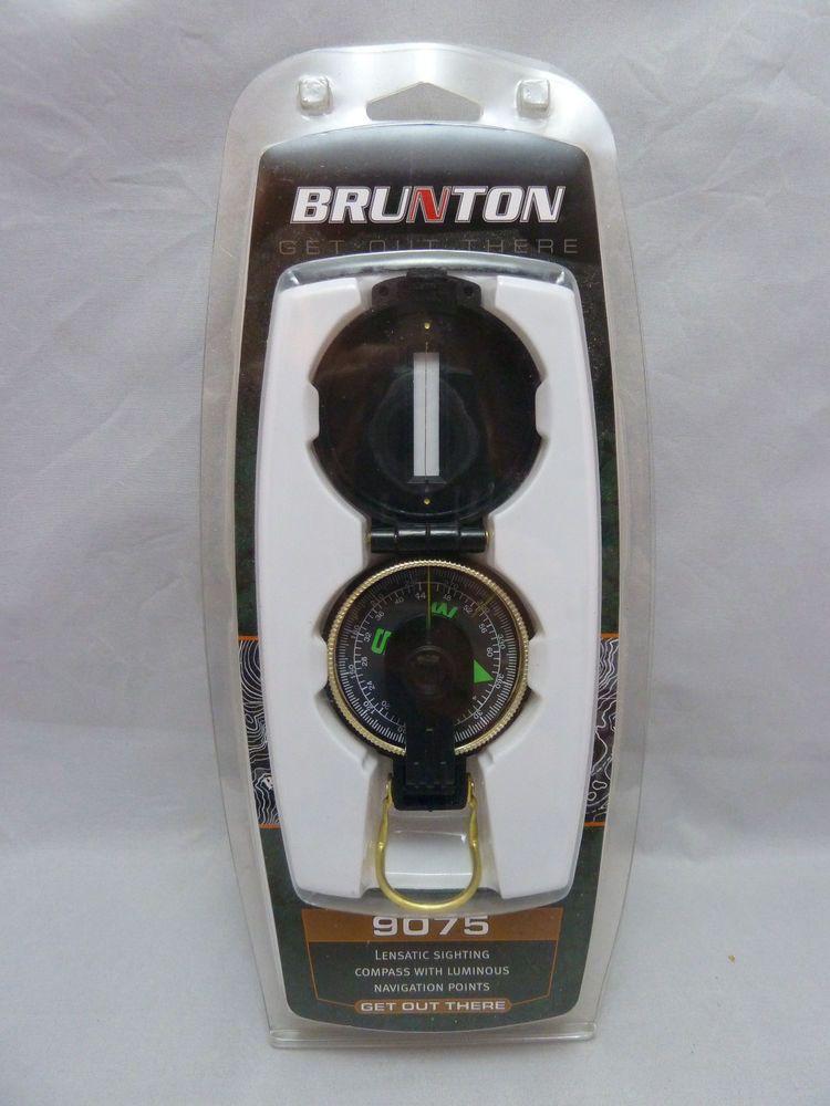 New! Brunton 9075 Lensatic Sighting Compass with Luminous