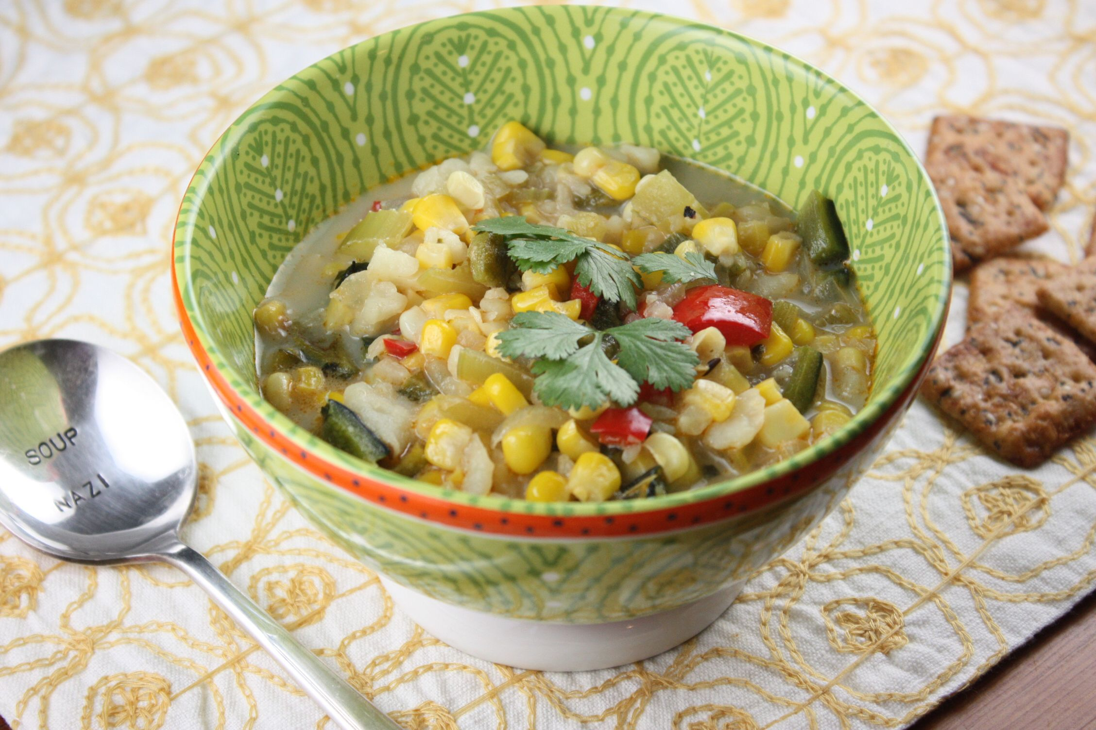 Roasted Poblano Pepper Corn Chowder