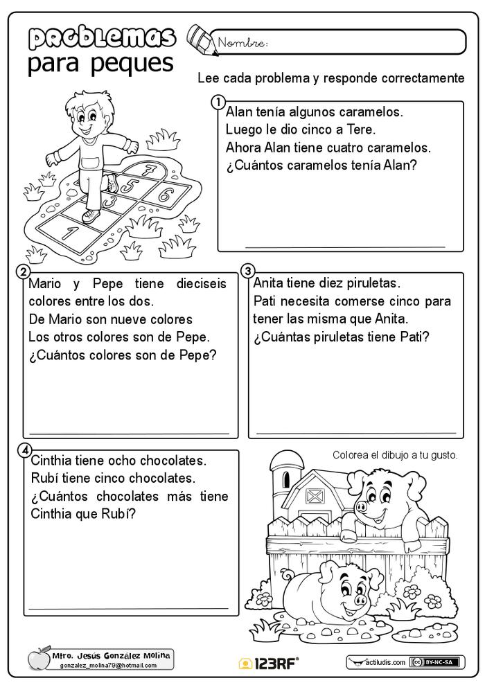 Problemas Para Peques Dalay Pinterest Math Math Activities