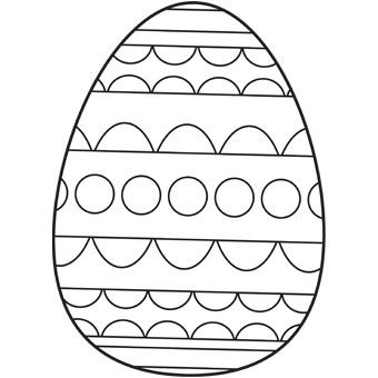 Easter Egg Color Page Easter Pinterest Egg coloring Easter
