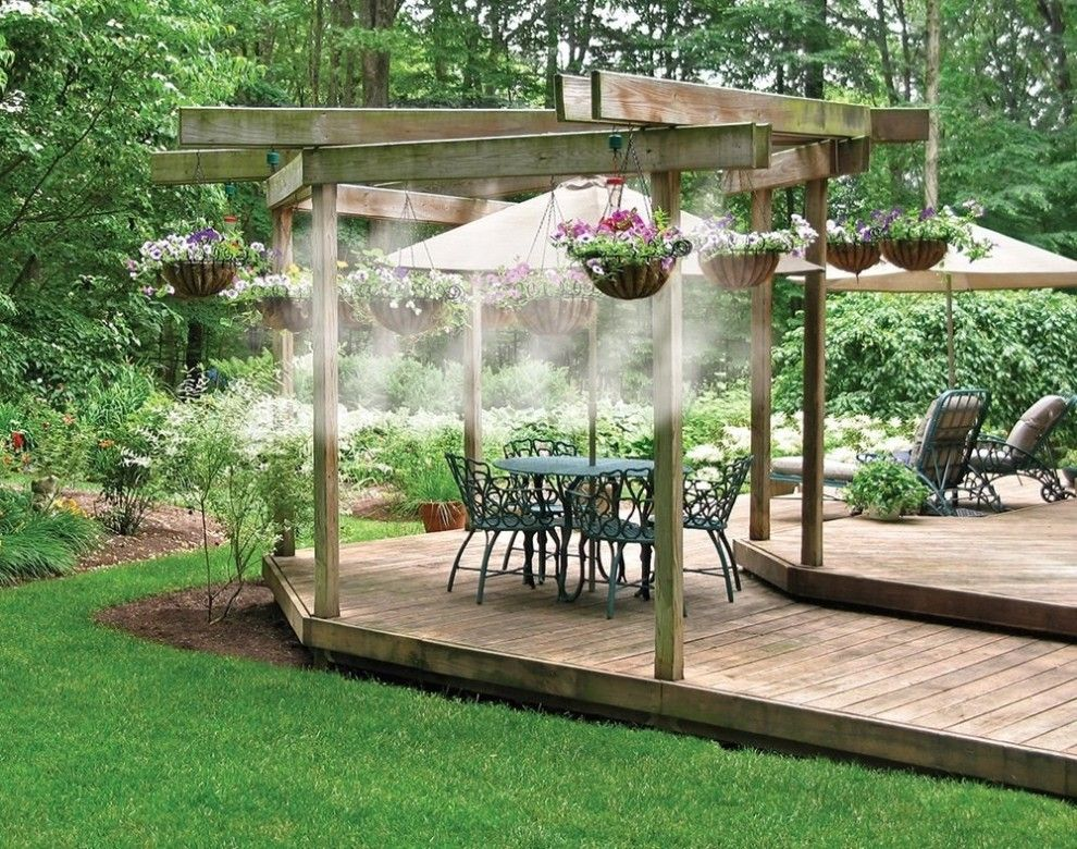 An Outdoor Cooling System That Ll Release A Fine Mist Of Water To