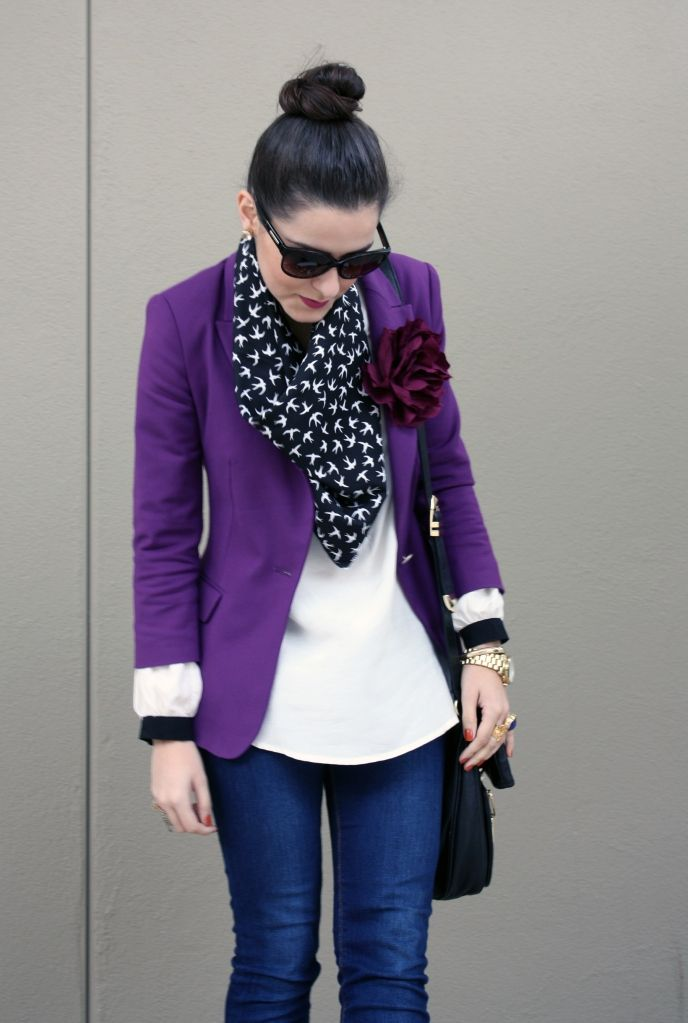 Purple reign. | Fashion, Style, Purple blazer