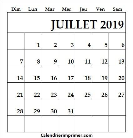 Calendrier Pinterest.Imprimer Gratuitement Calendrier Juillet 2019 Vierge
