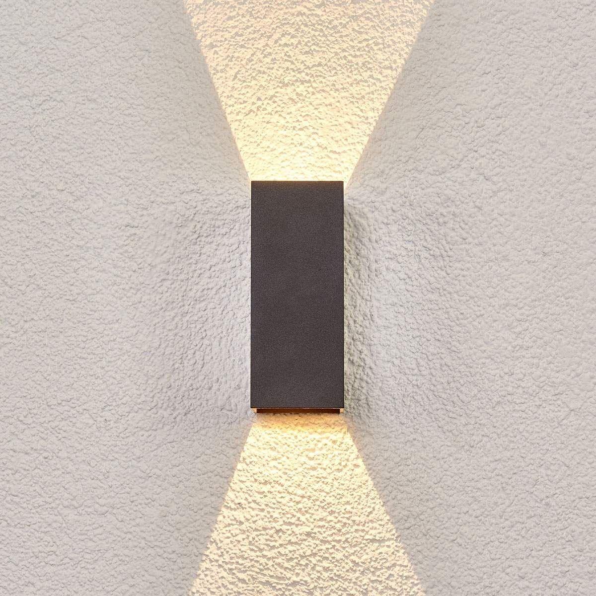 Applique Extérieure Eclairage Haut Et Bas applique extérieure en aluminium moderne led - taille