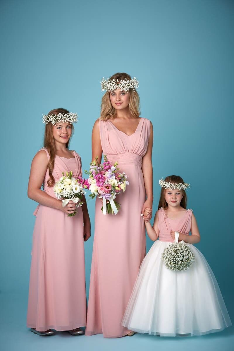 Clover pink bridesmaid and flowergirl dresses. Available in a range ...