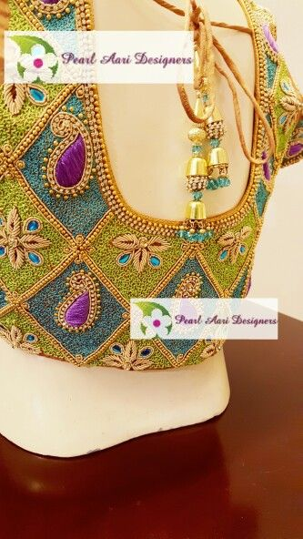 Pin by pearl aari on bridal blouse embroidery work