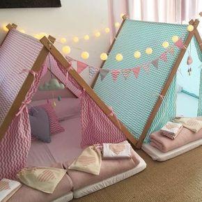 a tend ncia da festa do pijama crochet kinder zelte schlafzimmer m dchen et m dchenzimmer. Black Bedroom Furniture Sets. Home Design Ideas