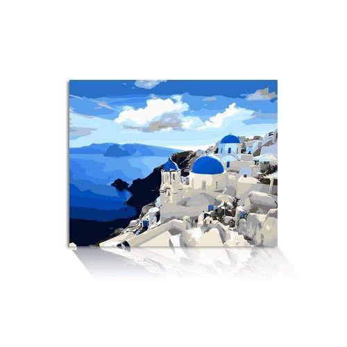 Malen Nach Zahlen Santorin Mnz 086 Natural Landmarks Nature Landmarks