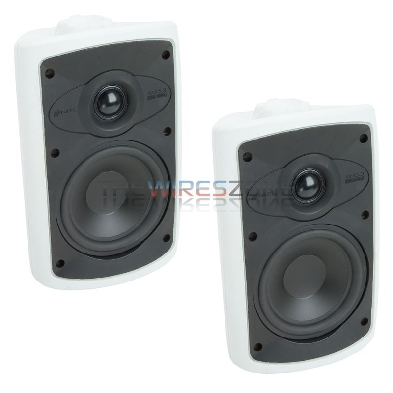 Niles Os5 3 White 2 Way 5 Indoor Outdoor Home Theater Speaker System Pair Niles Home Theater Speaker System Home Theater Speakers Outdoor Speakers