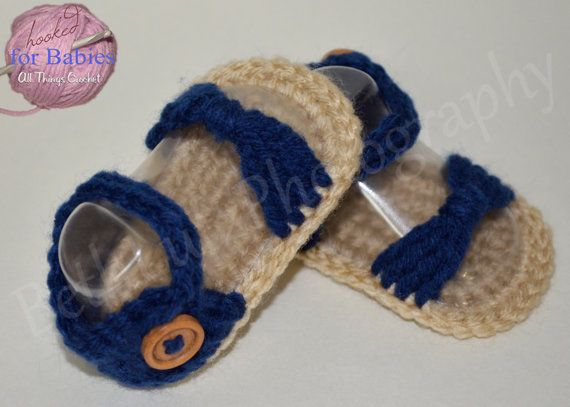 Size Newborn Handmade Crochet Baby Sandals Baby by Hooked4Babies