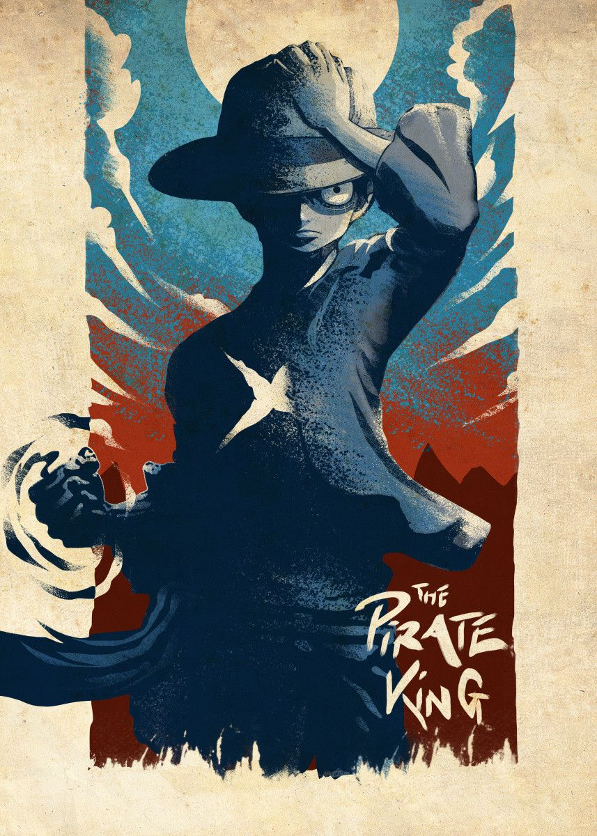 The Pirate King – Poster - Canvas Print - Wooden Hanging Scroll Frame