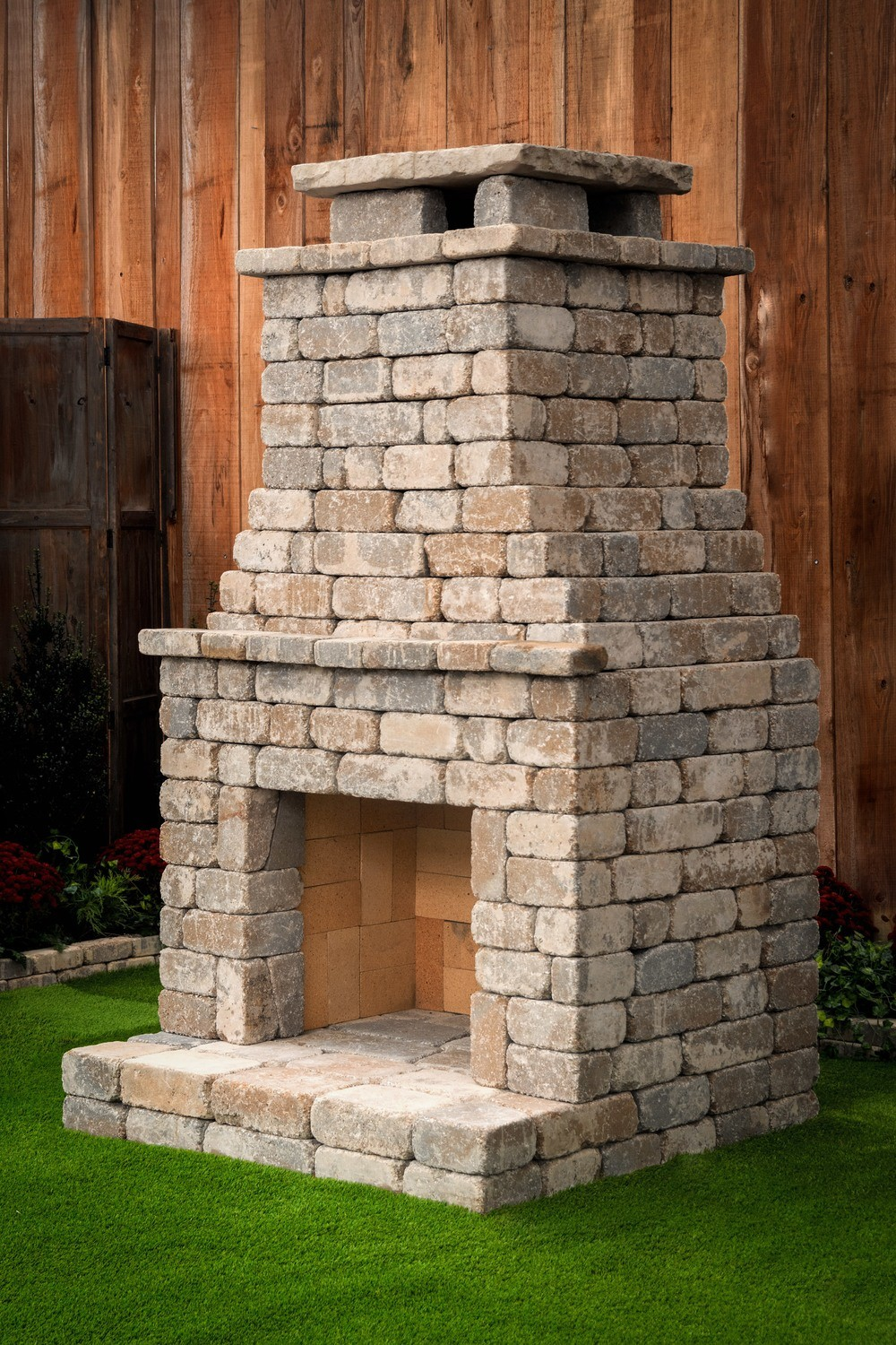 Fremont Diy Outdoor Fireplace Kit In 2020 Outdoor Fireplace Kits