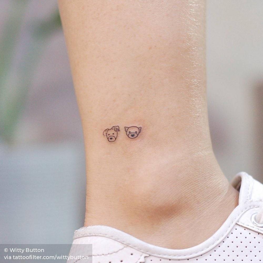 Tiny Dog Portraits Tatuajes De Perro Pequeno Tatuajes Minimalistas Tatuajes Delicados Femeninos
