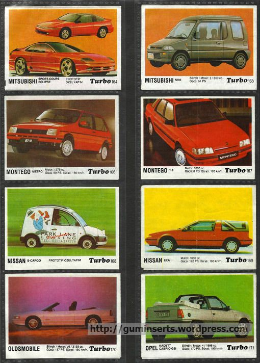 Turbo 121 190 | My Bubble Gum Inserts Collection