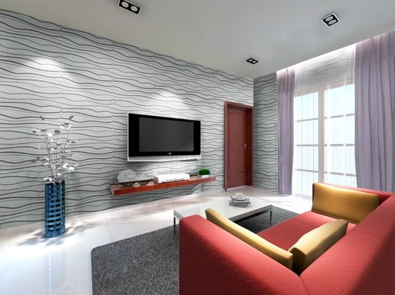 wall decoration tiles. 3D Bamboo Wall EcoTiles in Living Room  Ceiling Tile Ideas