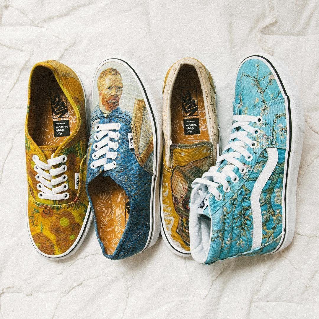 Vans X Van Gogh Vans Shoes Aesthetic Shoes Painted Shoes