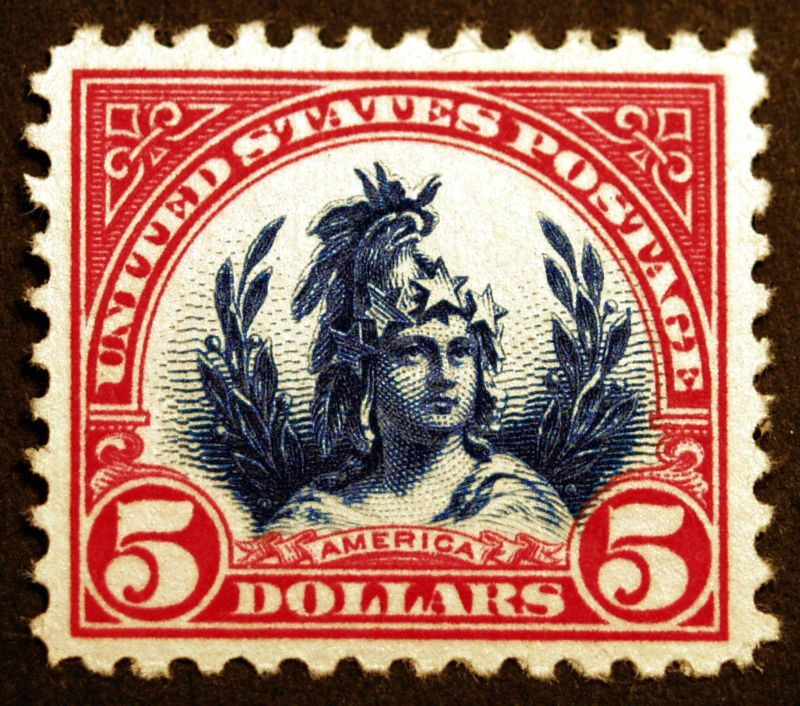 Image result for $5 america stamp