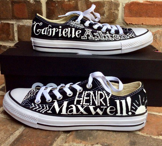 908a2745c4d4c Hand Painted Converse Low Top Tie Sneakers, Shoes for Grandma, Grand ...