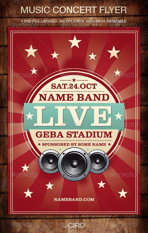 Music Concert Flyer  Graphicsimp    Concert Flyer