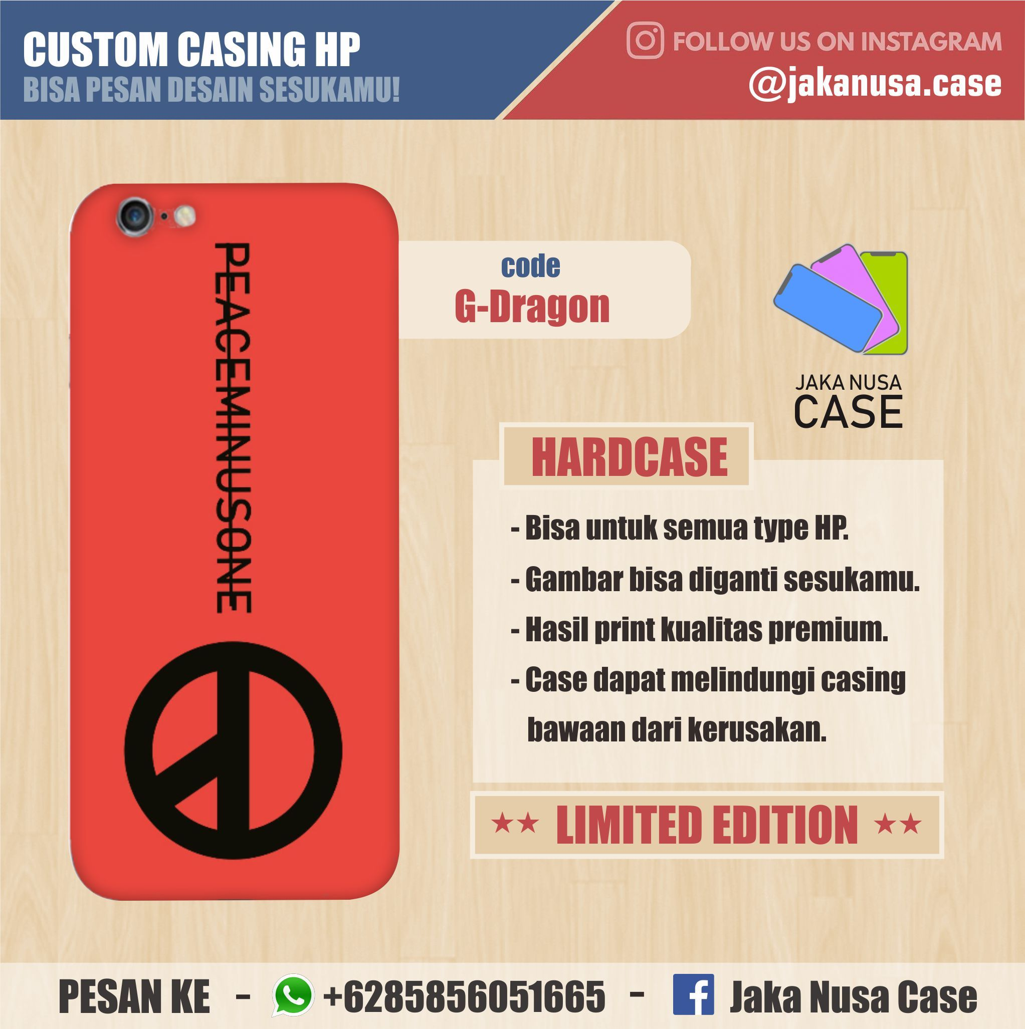 Custom Case Premium Logo Peaceminusone G Dragon Warna Merah Terbaru 2018 2019 Order 085856051665 Wa Casingkpop Casinggdragon Casingpeaceminusone Case
