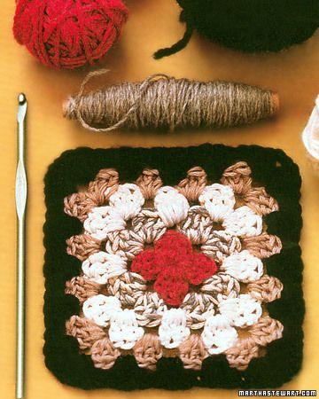 Crocheting a Granny Square   Granny squares, Martha stewart crafts ...
