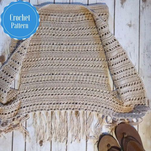 Crochet Vest Pattern Fringe Vest Pattern Crochet Cover Up Boho
