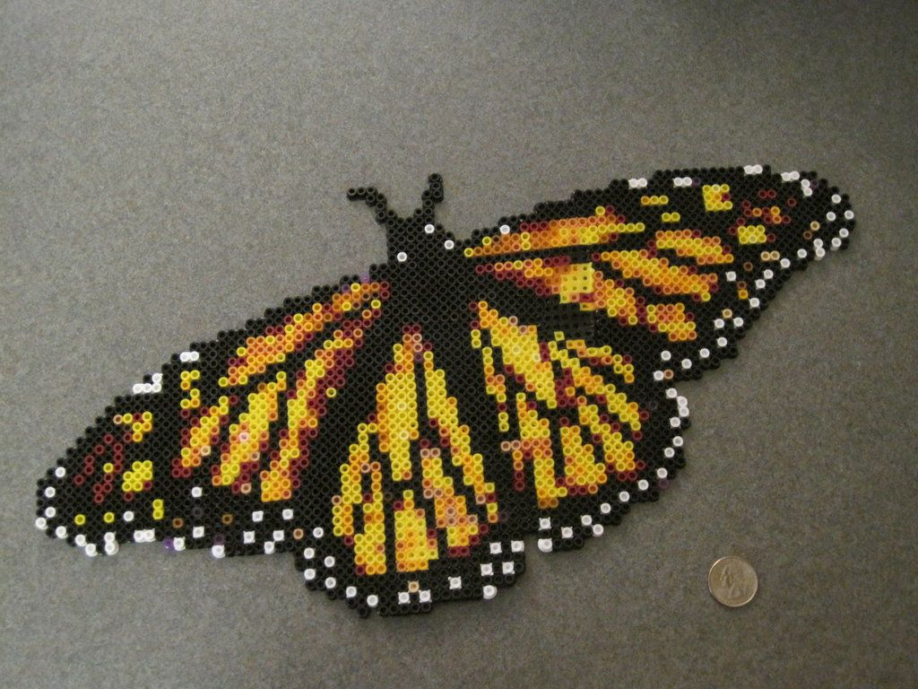 Perler Bead Monarch Butterfly by SuperMrHolmes on deviantART