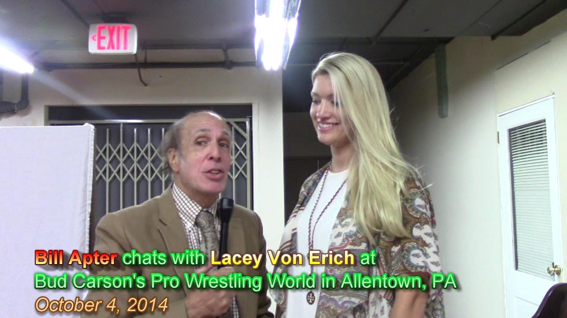 LACEY VON ERICH TALKS OF DAD KERRY, FAMILY, THE CLAW-HOLD ...