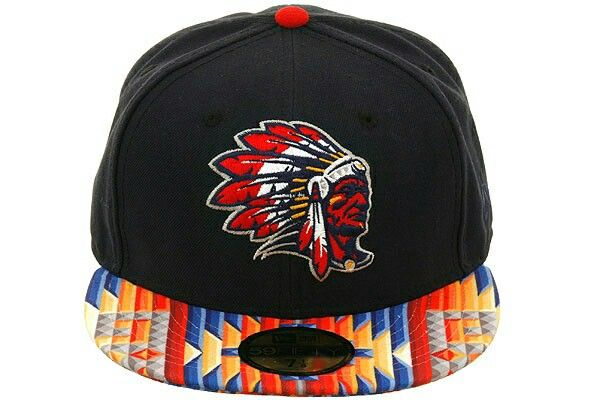 Cool aztec pattern hat with Native American logo  a1b8fad35180