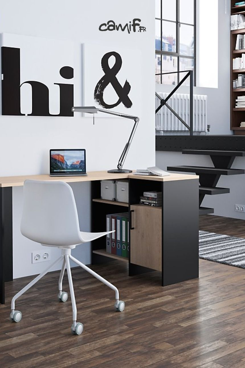 Bureau D Angle Garry Camif Fr Bureau Angle Bureau A Domicile Idee Deco Rangement Chambre