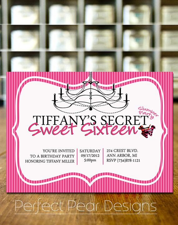 Sweet sixteen birthday party invitation pink victoria secret theme sweet sixteen birthday party invitation pink victoria secret theme stopboris Image collections