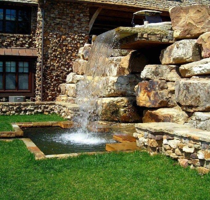 Cascada casa dise o de jardines jardineria pinterest for Cascadas de jardin