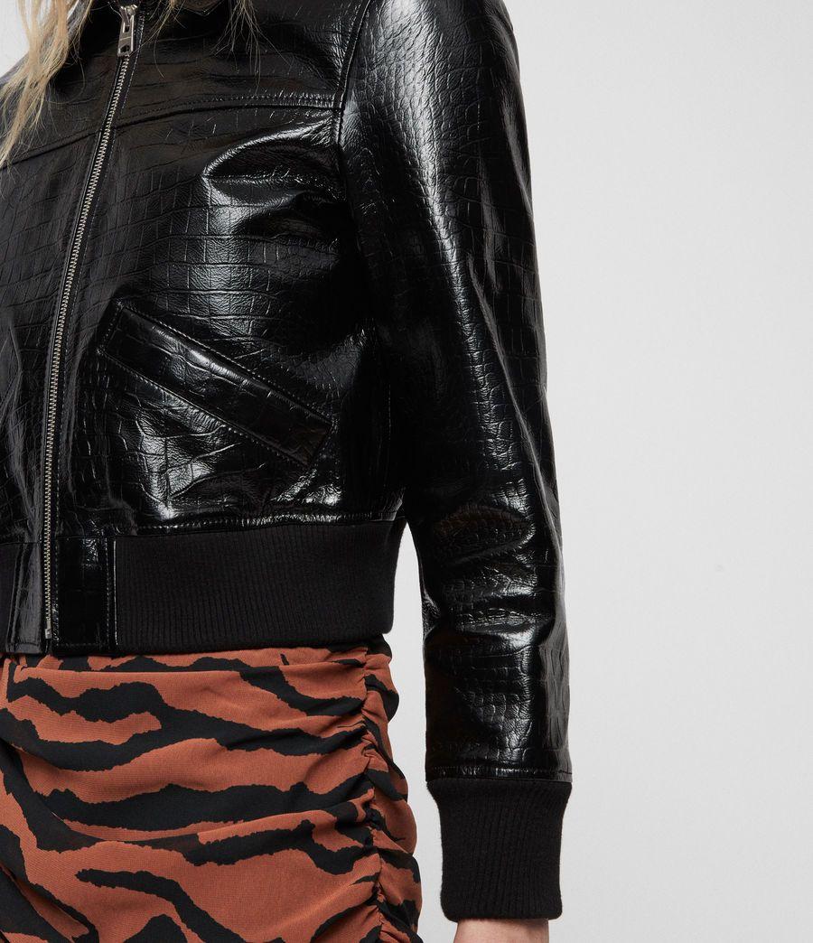 Pascao Ali Leather Bomber Jacket Women S Coats Jackets Jackets Black Bomber Jacket [ 1044 x 900 Pixel ]