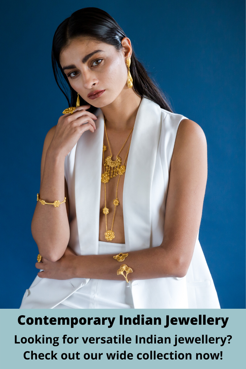We all want collectible jewellery pieces that can be worn with different outfits for multiple occasions. Check out our contemporary Indian inspired jewellery collection which is super versatile to wear with Indian and western looks.  #ModernIndian #contemporaryjewellery #Indianjewellery #Indianjewelry