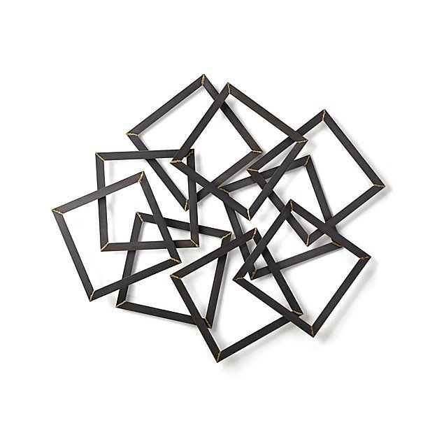 Multi Squares Metal Wall Decor Crate And Barrel Square Wall