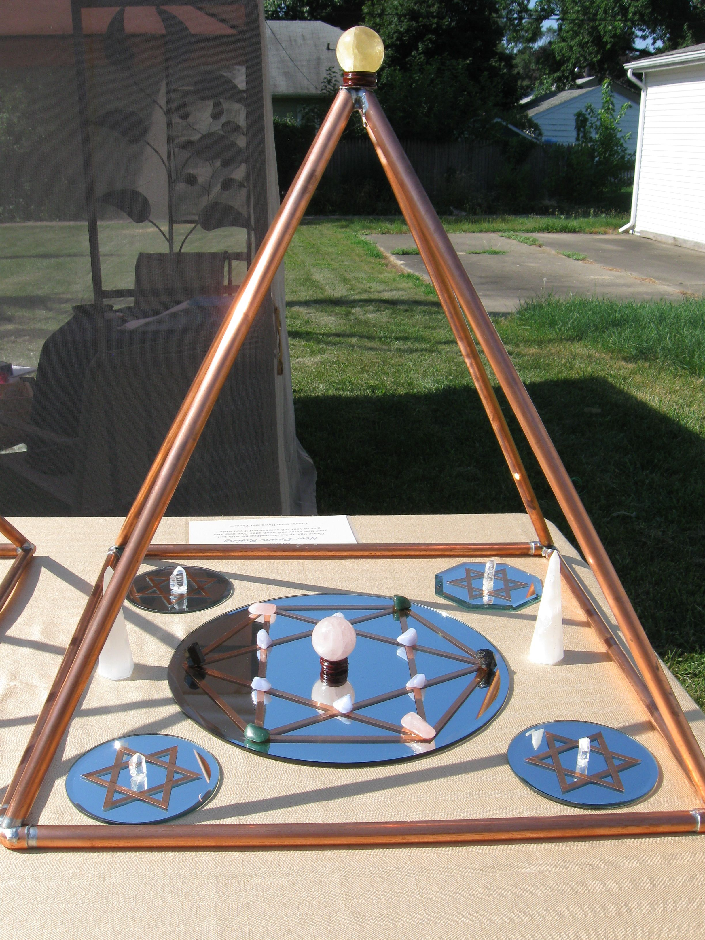 Crystal Grids in A Copper Pyramid I Created | Projects to Try