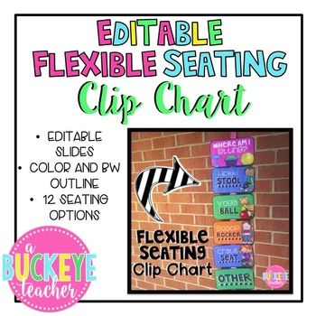 Do you use flexible seating in your classroom  created this clip chart to manage the during day simply print out color or bw version and also editable rh pinterest