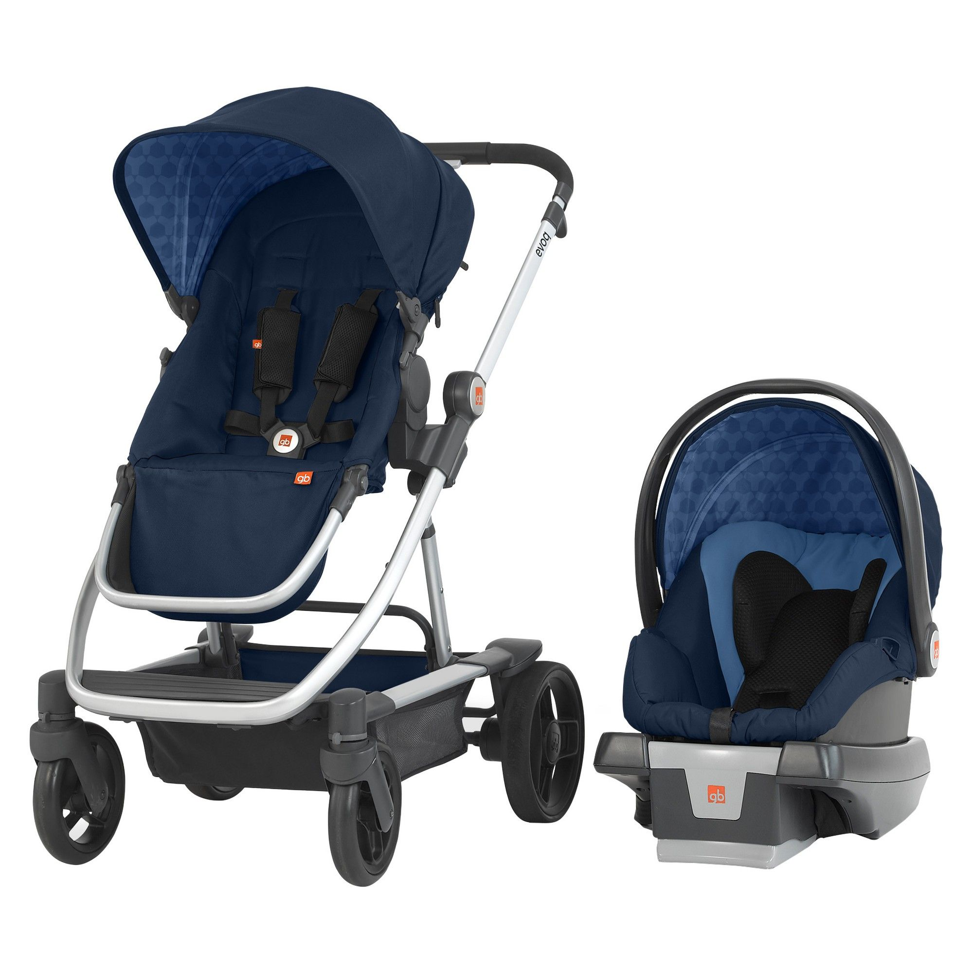 GB Evoq 4in1 Travel System Midnight (Black) Baby