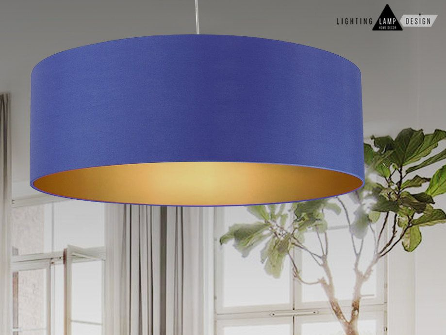 Blue Navy Lamp Shades Gold Interior Shade Inside Elegant Green Large Oversized Lightshade Or Lampshade Measuring 60 70 Cms And