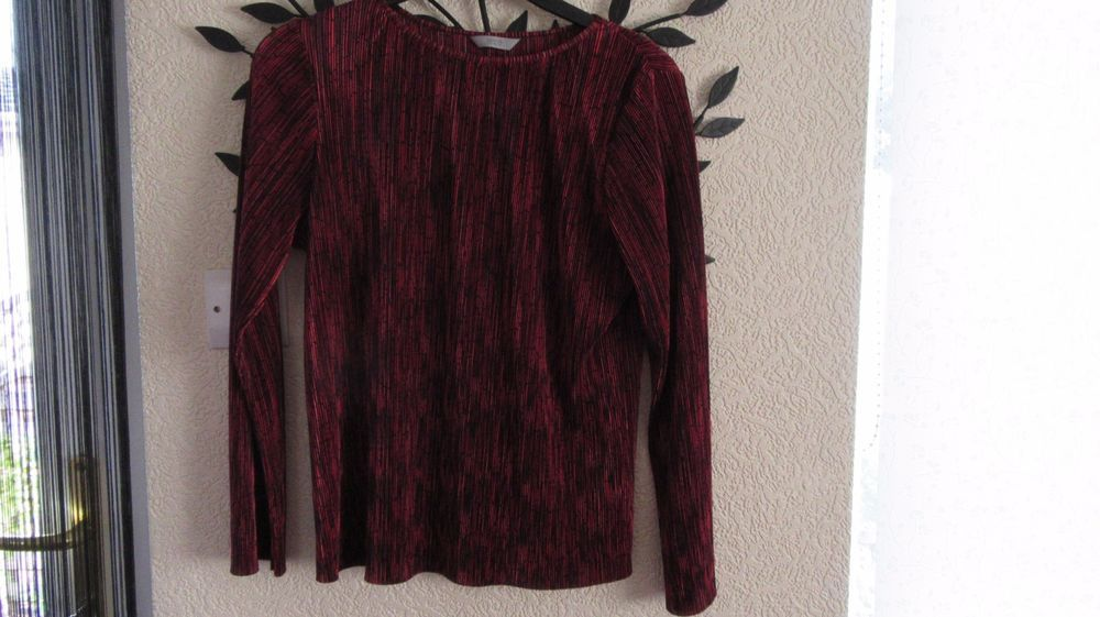 New  Marks@Spencer   Red Mix  Pleated  Womens Top Size 14 #MarksandSpencer #OtherTops #Casual