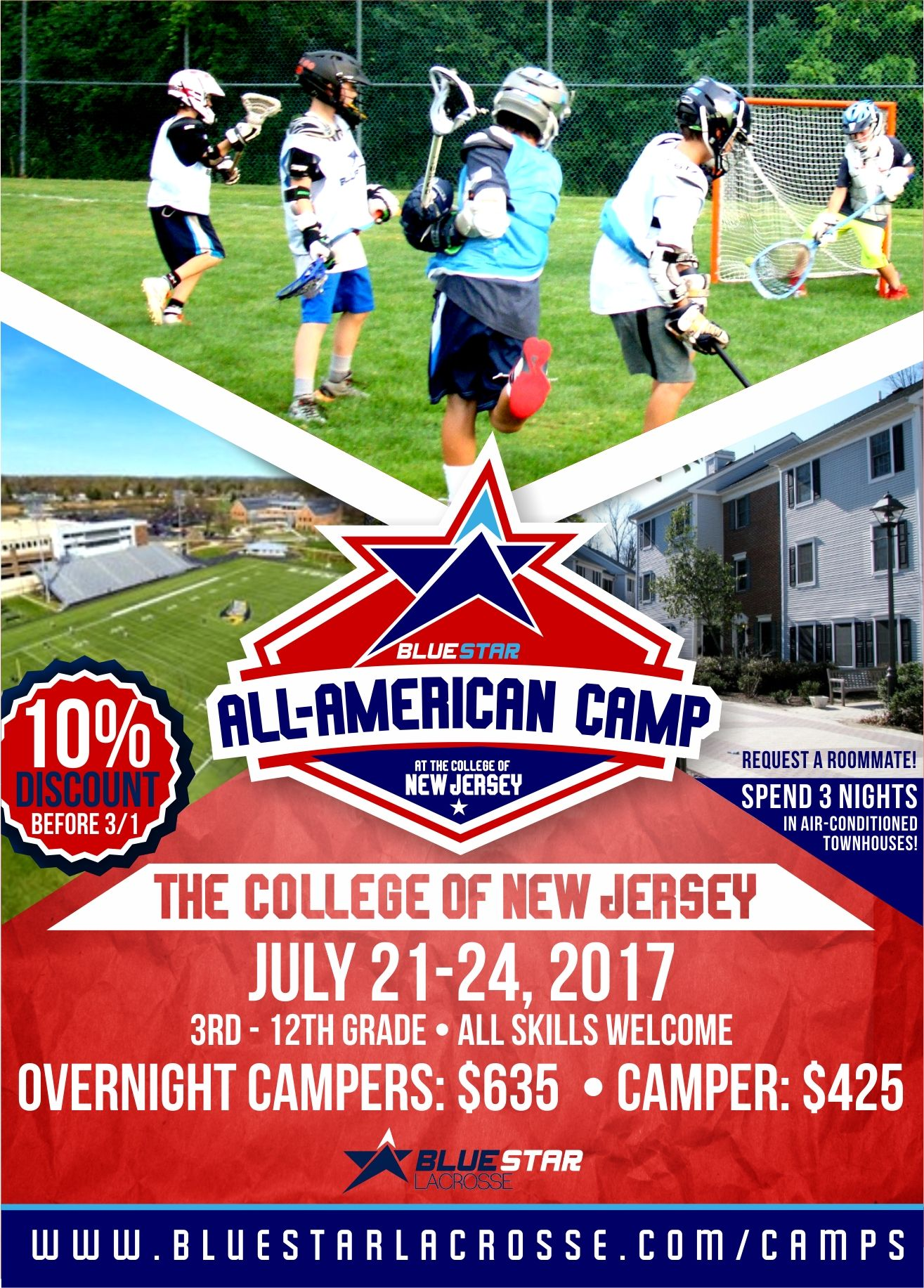 Pin By Blue Star Lacrosse On Camps Lacrosse Camp Camping Lacrosse