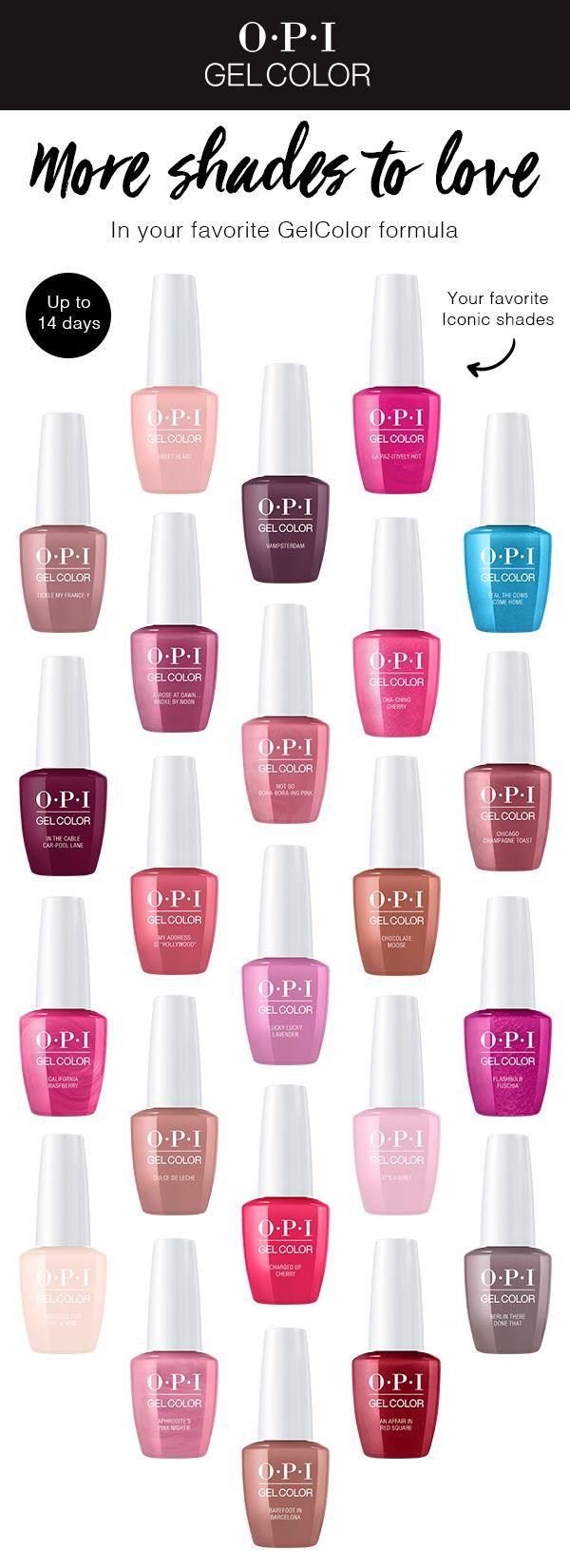 Gel Nail Polish Opi Gel Nails Opi Gelcolor Gel Color