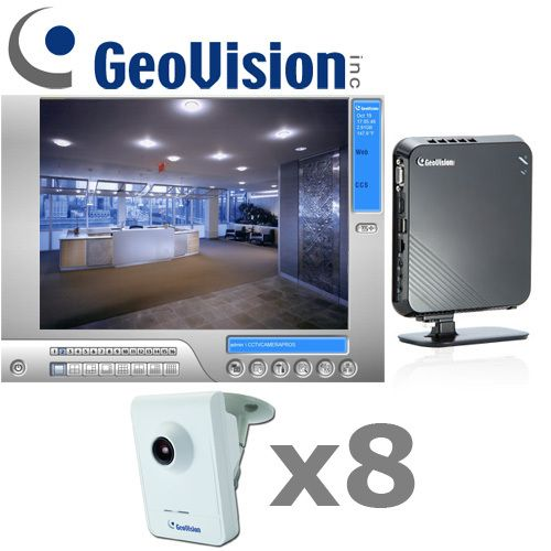 geovision is a professional grade 4 camera megapixel ip camera system which delivers superior indoor surveillance under a cost effective package - Security Camera Installation Cost