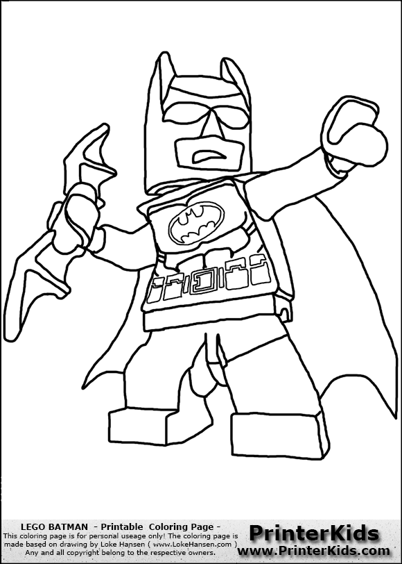 Batman Lego Printable Coloring Pages