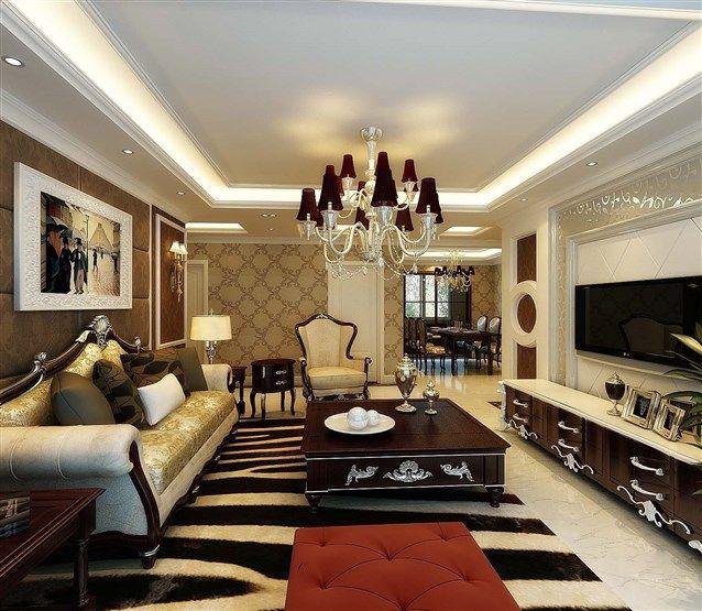 ورق الجدران المطبع وباللون البني يتكامل مع الدهان الابيض والخشب Home Home Decor Decor