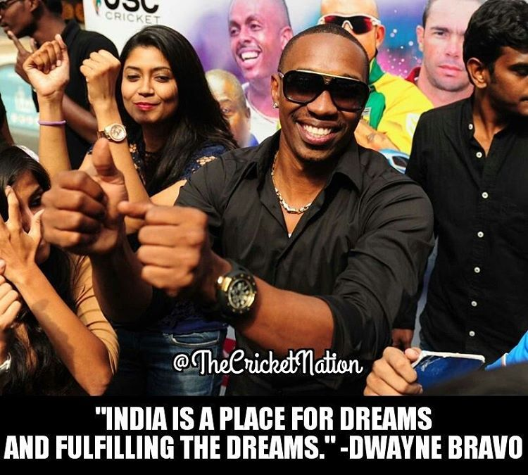 Dwayne bravo about india with images cricket teams