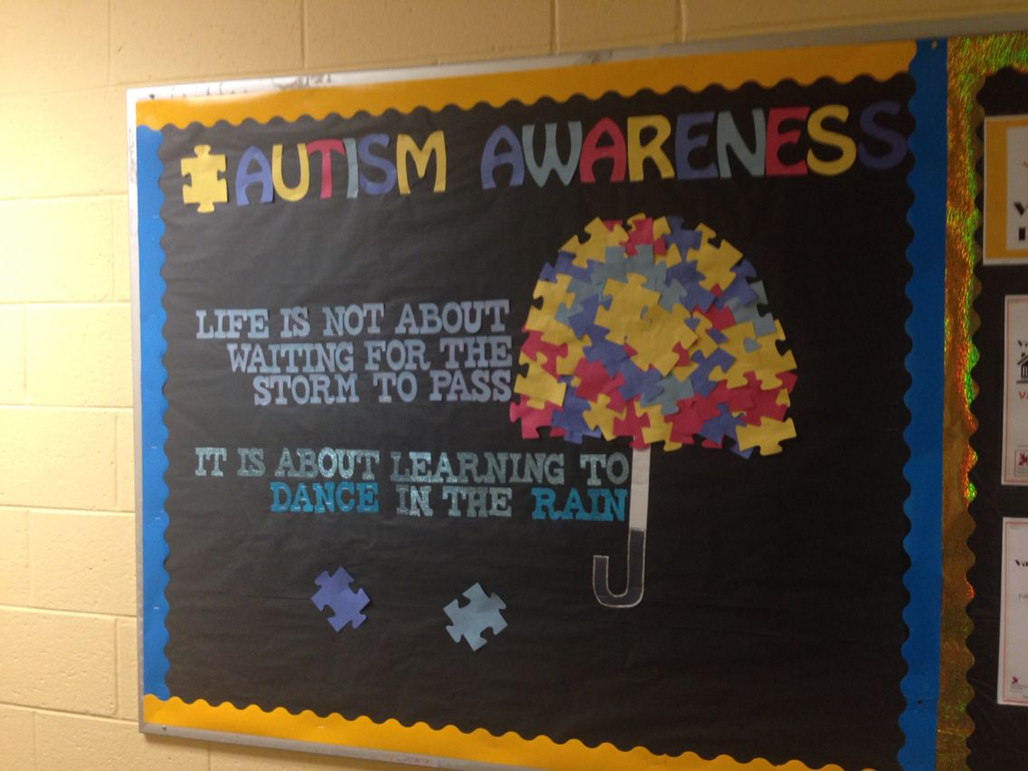 Special Education Classroom Decorations : Autism awareness april bulletin board res life education