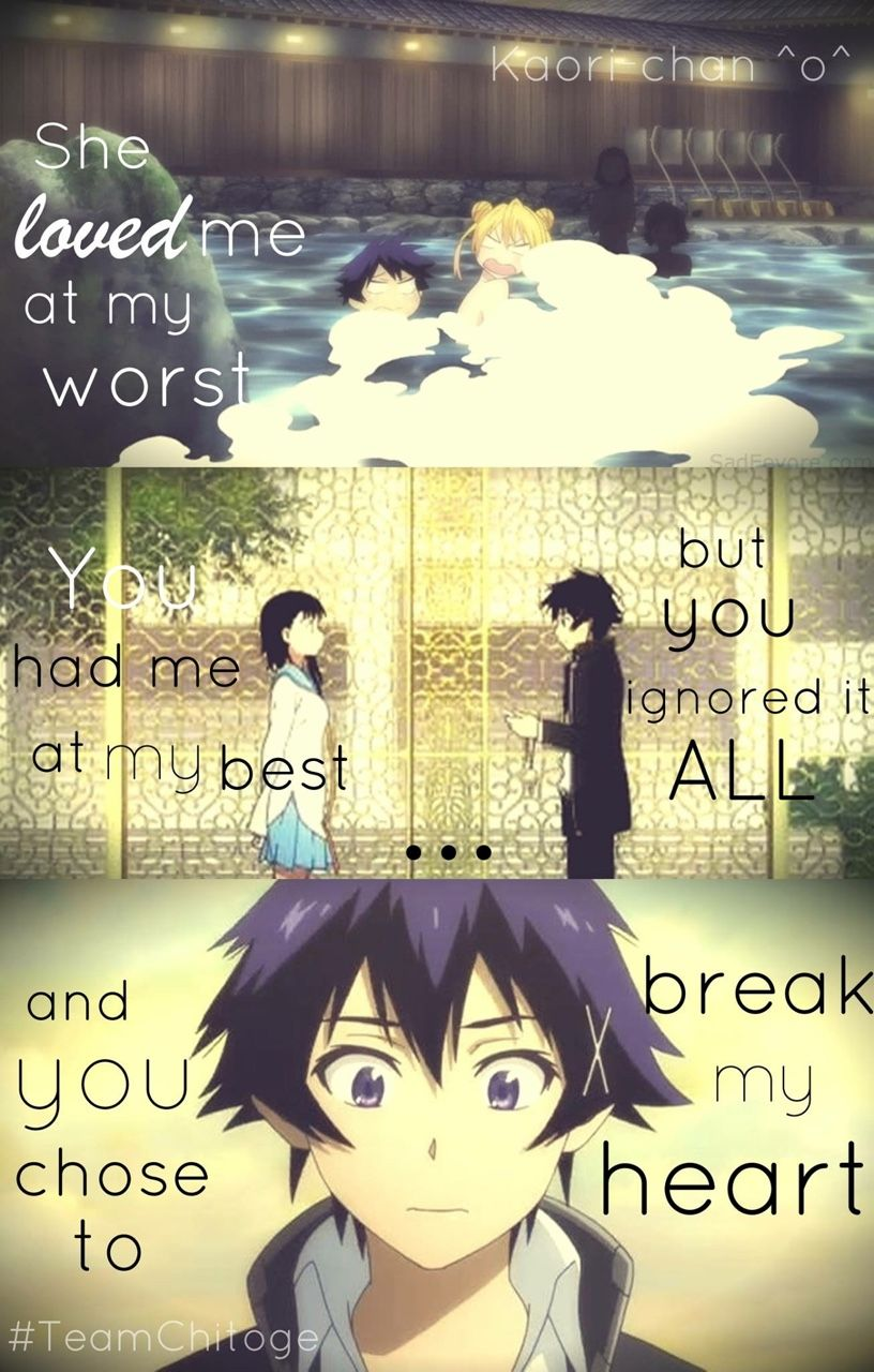 Anime Love Quotes It Always Happens Like That  Nisekoi  Pinterest  Anime Manga And