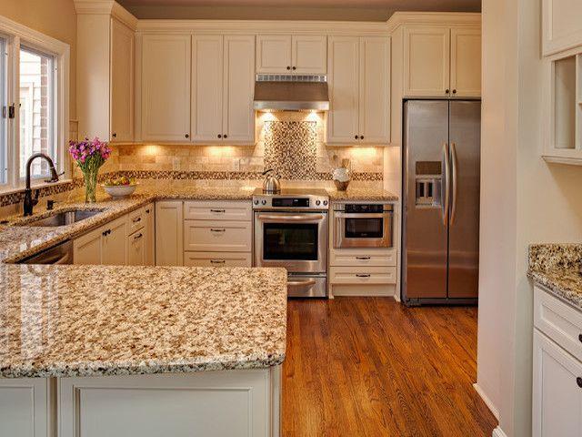 Kitchen White Cabinets With Granite Countertops Giallo