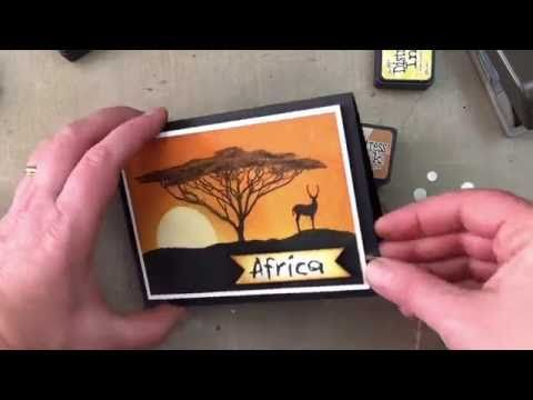 african trees sunset card making tutorial youtube dark room